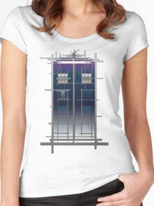 Tardis (White) Women's Fitted Scoop T-Shirt