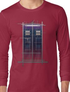 Tardis (White) Long Sleeve T-Shirt