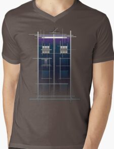 Tardis (White) Mens V-Neck T-Shirt