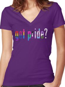 Got Pride? Women's Fitted V-Neck T-Shirt