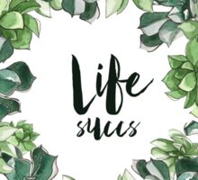 Life Succs - succulent wreath Sticker