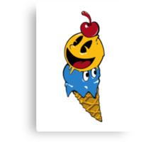 Pac Man Ice Cream Cwned Canvas Print