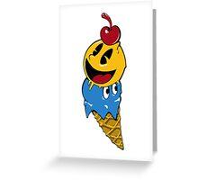 Pac Man Ice Cream Cwned Greeting Card