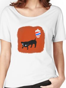 Hairdresser's black dog Women's Relaxed Fit T-Shirt