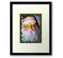 Santa ready for Christmas and his many house visits Framed Print