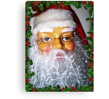 Santa ready for Christmas and his many house visits Canvas Print