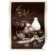 Still Life with Vase and Cumquats Poster
