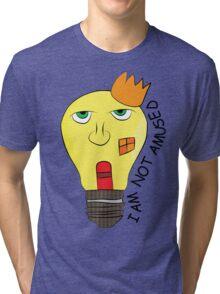 I am not amused! - Queen Victoria lightbulb Tri-blend T-Shirt