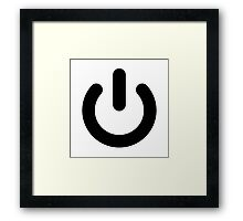 Geek Power Ideology Framed Print