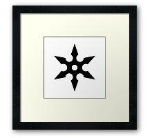 Ninja Shuriken Framed Print