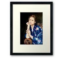 woman in yukata 2 Framed Print