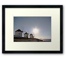 Windmills of Mykonos Framed Print