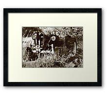 machine in time Framed Print