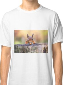 This red squirrel can't believe it's luck Classic T-Shirt