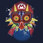 Mario wearing Majora's Mask by Link270