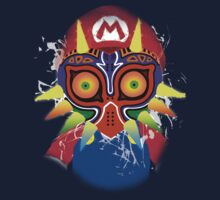 Mario wearing Majora's Mask T-Shirt