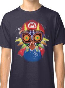 Mario wearing Majora's Mask Classic T-Shirt