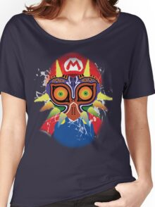 Mario wearing Majora's Mask Women's Relaxed Fit T-Shirt