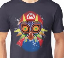 Mario wearing Majora's Mask Unisex T-Shirt