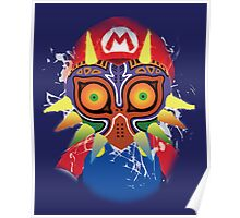 Mario wearing Majora's Mask Poster
