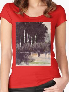 The river trees... Women's Fitted Scoop T-Shirt