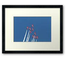 The red arrows display at Air Bourne in Eastbourne Framed Print