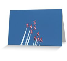 The red arrows display at Air Bourne in Eastbourne Greeting Card