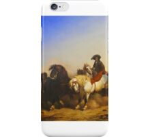 Charles Philogène Tschaggeny - Stallions from the Government's Stud Farm 1840 iPhone Case/Skin
