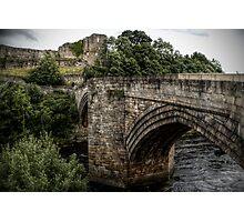 Barnard Castle Bridge & Norman Ruins Photographic Print