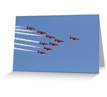 The red arrows at Air Bourne in Eastbourne Greeting Card