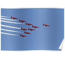 The red arrows at Air Bourne in Eastbourne Poster