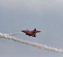 The Red Arrows criss cross at Air Bourne in Eastbourne by Keith Larby