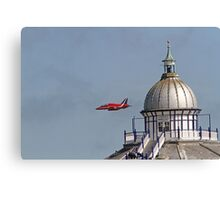 A single red arrow at Airbourne in Eastbourne Canvas Print