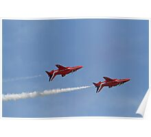 The Red arrows fly at Airbourne in Eastbourne Poster