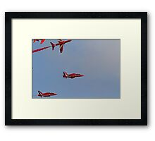 The Red arrows fly at Airbourne in Eastbourne Framed Print