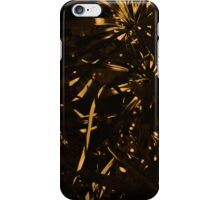 Abstract Gold Fern iPhone Cover iPhone Case/Skin