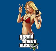Grand Theft Auto 5 Babe case Blue by Bergmandesign
