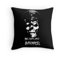 """ACAB """"ALL COPS ARE BASTARDS"""" T-SHIRT Throw Pillow"""