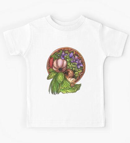 Art nouveau vegetables Kids Tee