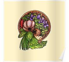 Art nouveau vegetables Poster