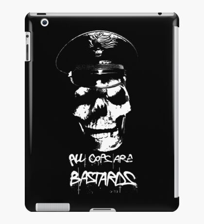 "ACAB ""ALL COPS ARE BASTARDS"" T-SHIRT iPad Case/Skin"