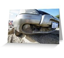 Subaru Outback Bulldozer Greeting Card