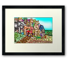 Creatures mount protest against humans Framed Print
