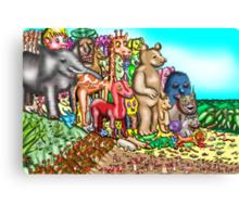 Creatures mount protest against humans Canvas Print