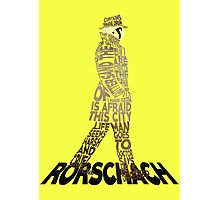 Watchmen - Rorschach Typography Photographic Print