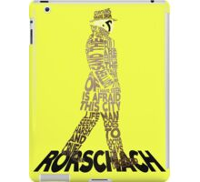 Watchmen - Rorschach Typography iPad Case/Skin