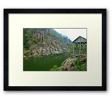 Resting spot on Cataract Gorge Framed Print