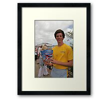 A programme seller at Airbourne in Eastbourne Framed Print
