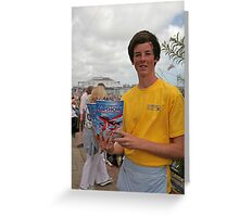 A programme seller at Airbourne in Eastbourne Greeting Card
