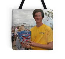 A programme seller at Airbourne in Eastbourne Tote Bag